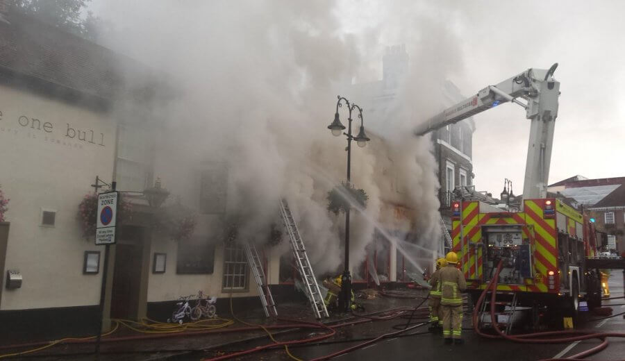 d6510b3ce0a688 Fire at The One Bull - The Beerhouse Bury St Edmunds